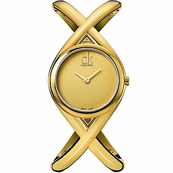 Calvin Klein K2L23509 Enlace Gold Dial Ladies Orologio