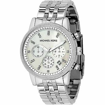 Michael Kors MK5020 Chronograph Mother Of Pearl Dial Ladies Watch