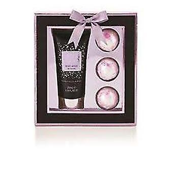 Style & Grace Glitz & Glam Bath Bombed Gift Set 200ml Body Wash + 3 x 50g Bath Fizzers