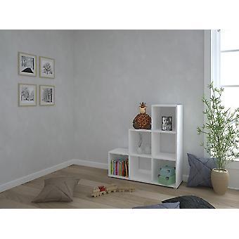 Libreria Tokyo S Color Bianco in Truciolare Melaminico, Plastica, Ferro 106x33x109 cm