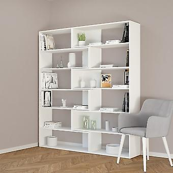 Twin Color White Bibliothek in Melaminic Chip 158x30x179 cm