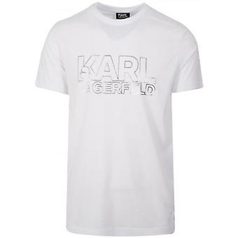Lagerfeld White Logo T-Shirt