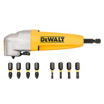 DEWALT DT70619T Impact Rated Right Angle Drill Bit Holder & 8 Bits DEWDT70619T