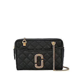 Marc Jacobs M0015817001 Women's Black Leather Shoulder Bag