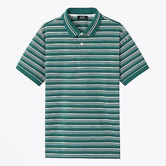 A.P.C.  - Esteban - Striped Polo T-Shirt - Green/White