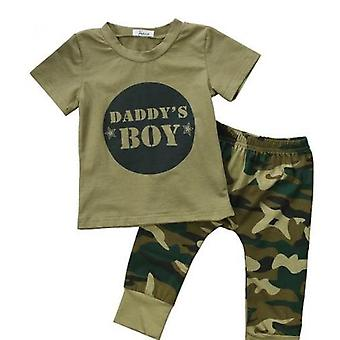 Baby Boy Top And Camouflage Pants Outfit