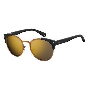Polaroid PLD6038/S/X Matte Black/Polarised Grey-Gold Mirror Glasses