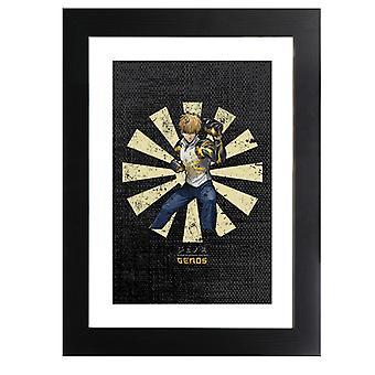 Genos Retro Japanese One Punch Man Framed Print