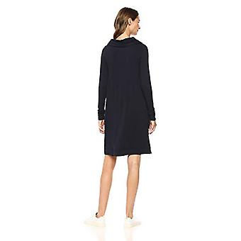Brand - Daily Ritual Women's Supersoft Terry Funnel-Neck Dress, navy, X-Small