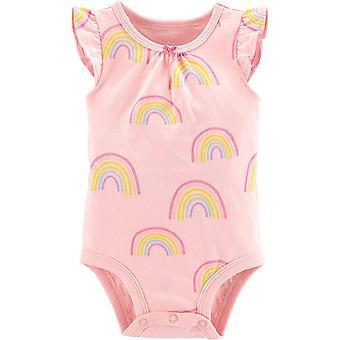 Carter's Baby Girls Rainbow Bodysuit Newborn Pink Multi