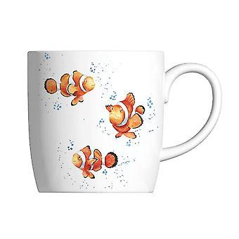 Wrendale Clowning Rond Clown Fish Mug