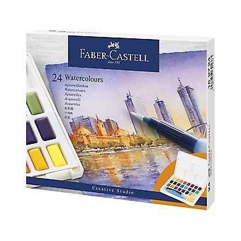 Faber Castellin akvarellimaalilaatikko (24kpl) (FC-169724)
