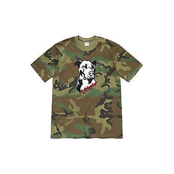 Supreme Pitbull Tee Woodland Camo - Kleidung