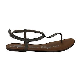 Sandali americani Rag Womens Akrista Leather Open Toe Casual T-Strap Sandals