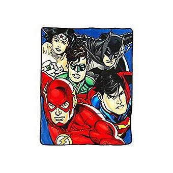 Super Soft Throws - Justice League - On Your Mark New 45x60
