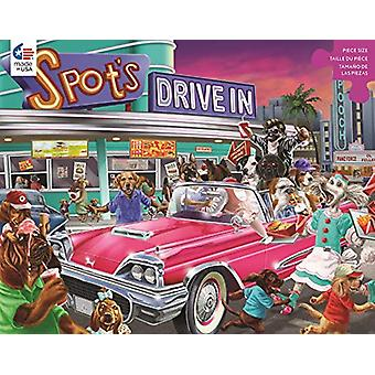 Puzzle - Ceaco - Paw&Claws Drive-in 300Pcs New 2224-4