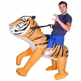 Inflatable Tiger Adults Halloween Costume One Size Fits All