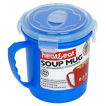 Heat & Eat Microwave Mug, Blue