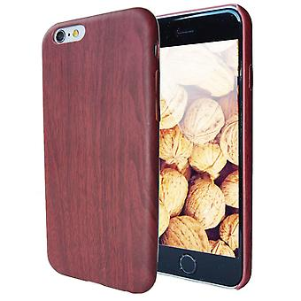 Hard Plastic Shell for Apple iPhone 6 Plus/6s Plus Wood Hard-Plastic Mobile Shell Red