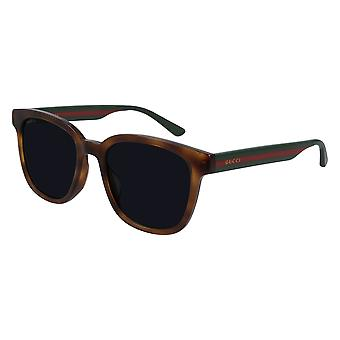 Gucci Asian Fit GG0848SK 004 Havana/Green-Grey Sunglasses
