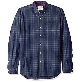 Goodthreads Men's Standard-Fit Long-Sleeve Plaid Poplin Shirt met Button-Dow...