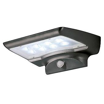 LED superficie al aire libre montado luz de pared negro IP44