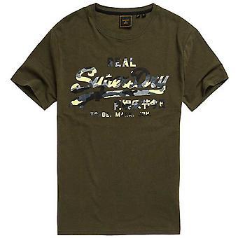 Superdry Vintage Logo Infill T-Shirt Khaki 51