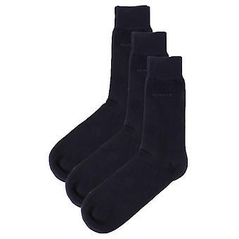 Gant Soft Cotton 3 Pack Socken - Marine Navy