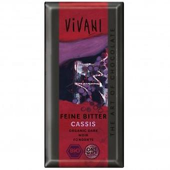 Vivani - Organic Cassis Filled Dark Chocolate 100gx10