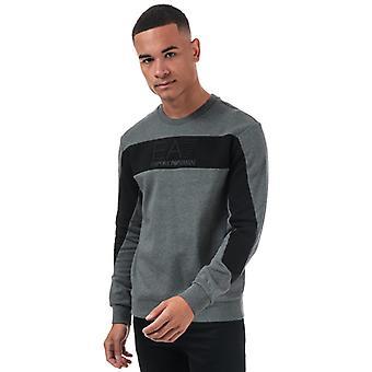 Men's Emporio Armani EA7 geprägt Logo Sweatshirt in grau