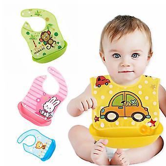 Nouveau-né Bébé Bibs Tabliers imperméables à la salive infantile Serviettes de dessin animé mignon en plastique