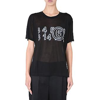 Mm6 Maison Margiela S52gc0162s23683900 Women's Black Modal T-shirt