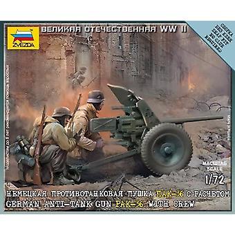 Zvezda Z6114 tyska Gun Pak-36 Med Crew Model Kit