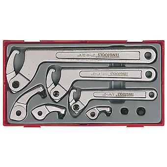 Teng TTHP08 8 Piece Hook & Pin Wrench Set TENTTHP08