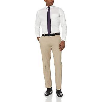 Brand - BUTTONED DOWN Men's Tailored Fit Stretch Twill Dress Shirt, Supima Cotton Non-Iron, Spread-Collar