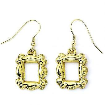 Friends Gold Plated Earrings Frame