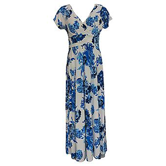 IMAN Boho Chic Dress Floral Printed Maxi With Head Wrap White 692-183