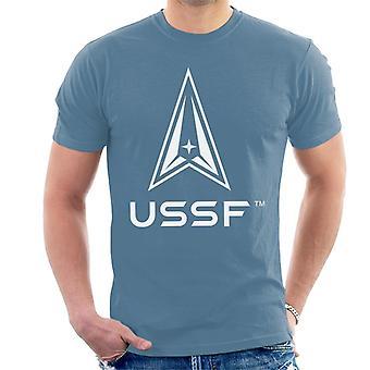 U.S. Space Force Light Logo USSF Light Text Men's T-Shirt