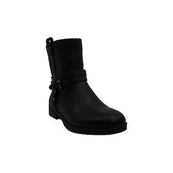 Zapatos de mujer's de cuero cerrado dedo del pie mid-Calf botas de moda
