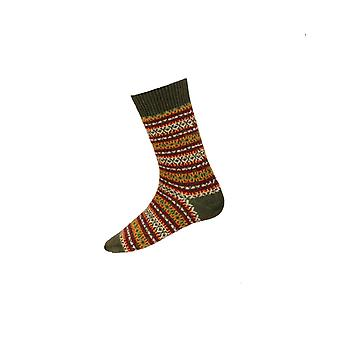 House of Cheviot Gents Fairisle Short Socks ~ Spruce
