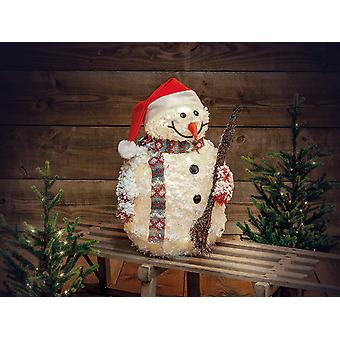 Noma Flocked Tinsel Snowman 20 LED 4919307P