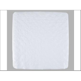 Home Label Contemporary Shower Mat White 95409