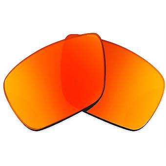عدسات بديلة ل Oakley الإرسال 1 نظارات شمسية مضادة للخدش مرآة حمراء