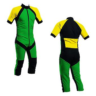 Skydiving summer suit green-yellow s2-03