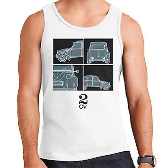 Citro?n 2CV Black Glamour Close Ups Men's Vest