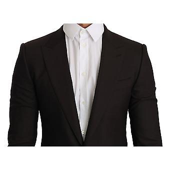Brown wool sicilia jacket coat blazer
