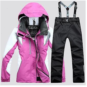 חליפת סקי בגדי ריקוד נשים&בגדי ריקוד נשים ז'קטים לגלוש + סקי מכנסיים, חורף בחוץ ז'קט תרמי