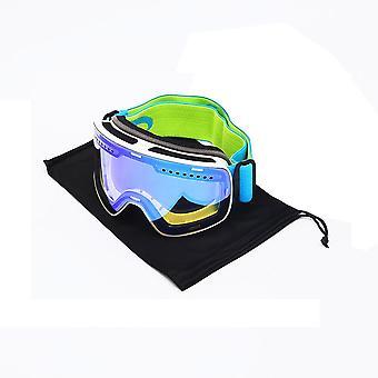 Esportes de neve de inverno, anti-neblina, proteção uv, óculos de ímã esférico