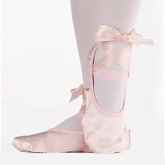 Balett Dance Silk Shoes Pointe Szalaggal Nők Soft & kényelmes