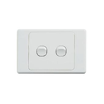 Ultima 2 Gang Switch 250V 16Ax Horizontal